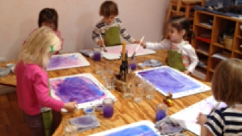 Sun Garden Children Painting